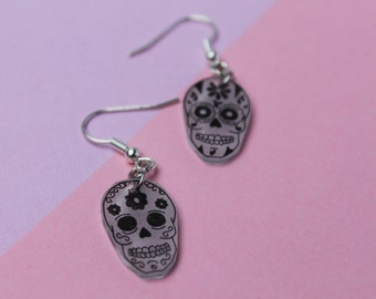 Chips geometric skulls / Earrings heads geometrical dead
