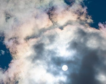Sun Sky Photo Light Clouds Sun Behind The Clouds Funny Clouds Transparent Clouds  Digital Download #5-4