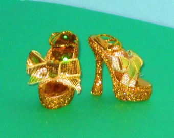 Monster High shoes GOLDIE BOWS Platform shoes for Monster High, Ever After High doll shoes, Monster High doll shoes, high heel dollS