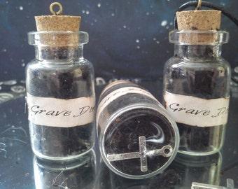 Grave Dirt Pendant Bottle Necklace