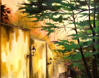 Oil paint - Walk in september
