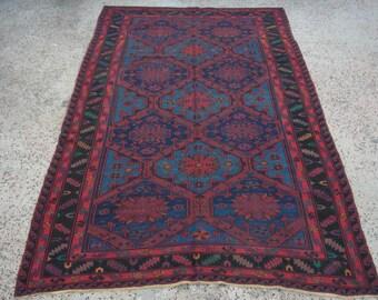 Large Area rug, Blue embroidered Kilim rug, Vintage Turkish kilim rug, kilim rug, rug, bohemian rug, Turkish rug, rug, tribal rug, large rug