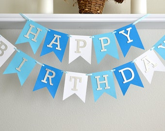 Boy 1st Birthday Banner - 1st Birthday Decoration Boy - First Birthday Party Boy - First Birthday Banner Boy - 40th Banner - 50th Banner