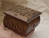 Jewelry box Wooden box Square Wood box Ring box Wedding gifts Carved wood box Boîte à bijoux en bois Hölzernen Schmuckschatulle