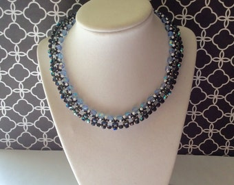 Modern beaded necklace