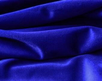 Indigo Blue Cotton Velvet Fabric