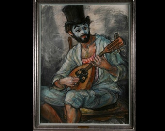Minstral Clown pastel by Schoneberger