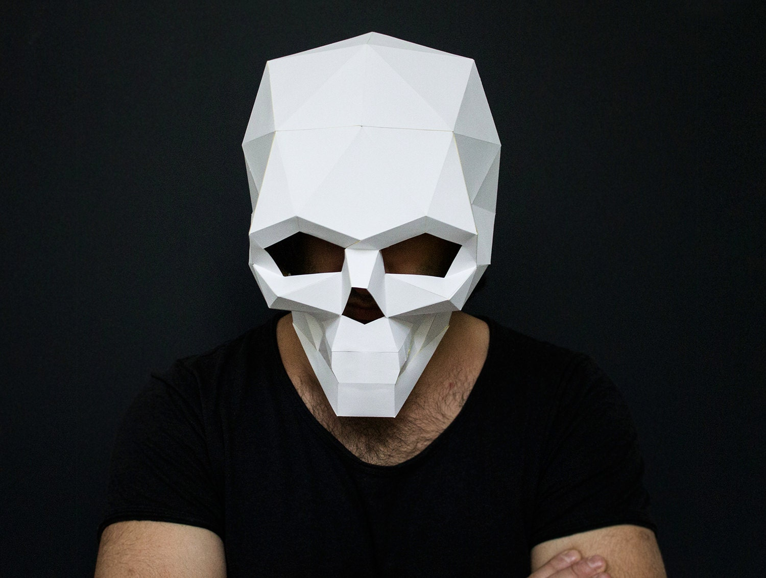 how to make a skull mask out of paper