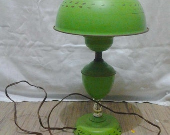 Lime Green Retro Table Lamp Indoor Vintage Lighting Aluminum