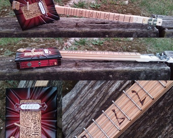 Cigar Box Guitar : Mild Insanity Electric Lap Guitar