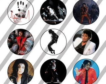 Michael Jackson digital collage sheet 4x6 for bottlecaps - 1 inch - INSTANT DOWNLOAD