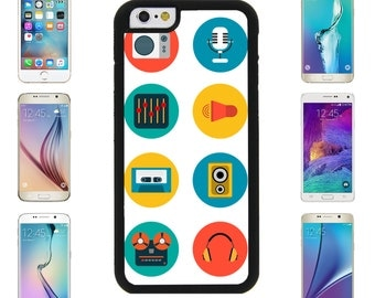 Music Icon Tape RadioCover Case for Apple iPhone 7 7 Plus 6 6S Plus Samsung Galaxy S7 Edge S6 Plus Note 5 6 7 8 9 10 att sprint verizon