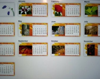 This is a desk calendar for 2016.