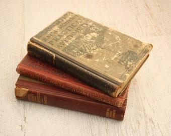 antique school books | vintage 1900s 1910s text books