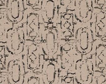 Shower Curtain Miramar Geometric Granite Black