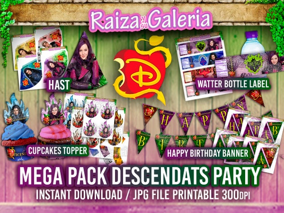 Disney Descendants Birthday Party Printable Pack