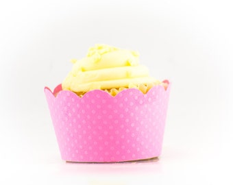Pink dots Cupcake wrapper