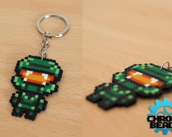Master Chief - Halo - Keychain - phone strap - hama beads - perler