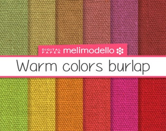 Warm colors burlap, digital paper, immediate download, texture canvas jute, linen, warm colours