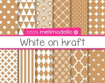 Digital, paper, White on Kraft