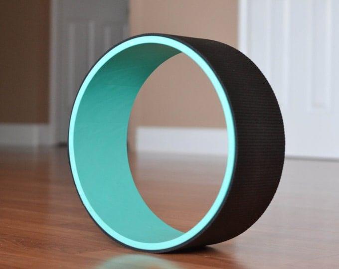 "12"" Yoga Wheel- Teal&Black"