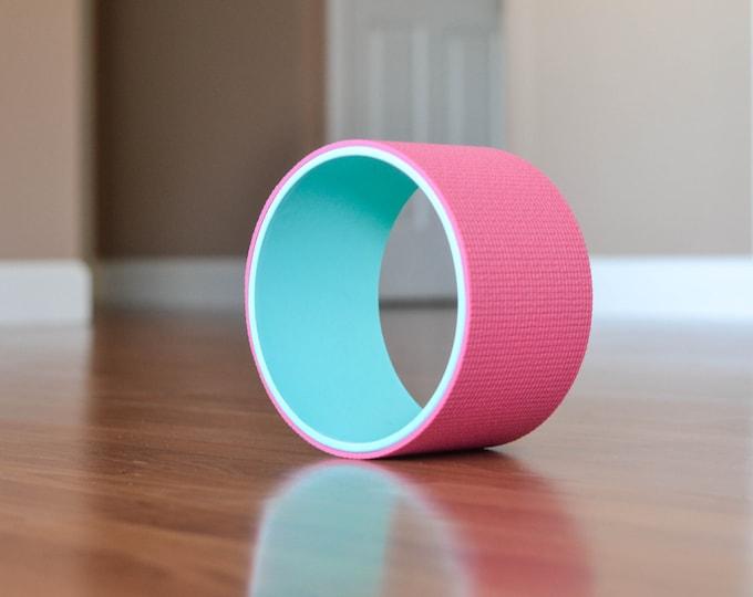 "8"" Yoga Wheel- Teal&Pink"