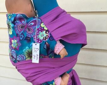 Handmade Wrap Strap Mei Tai Baby Carrier - Flutter