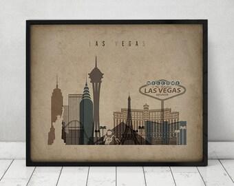 Las Vegas Wall Art las vegas skyline | etsy