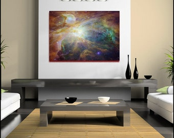 Orion Nebula Space Print Canvas Wall Art Large (FRAMED>UK ONLY) Rolled Canvas Poster or Box Framed.Contemporary and Modern! Courtesy of Nasa