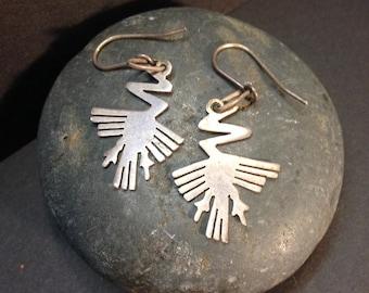 925 silver earrings Peruvian Geoglyph design frim Peru