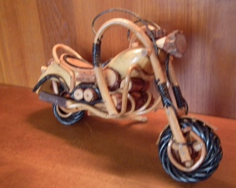 Wooden motorbike ornament