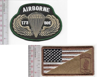 Airborne US Army 173rd Airborne Infantry Light Brigade ABN & Parachutist Wings Badge