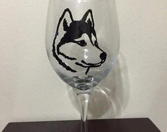 Hand-Painted Huskey