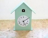 Modern Cuckoo Clock with moving bird. Handmade in Italy