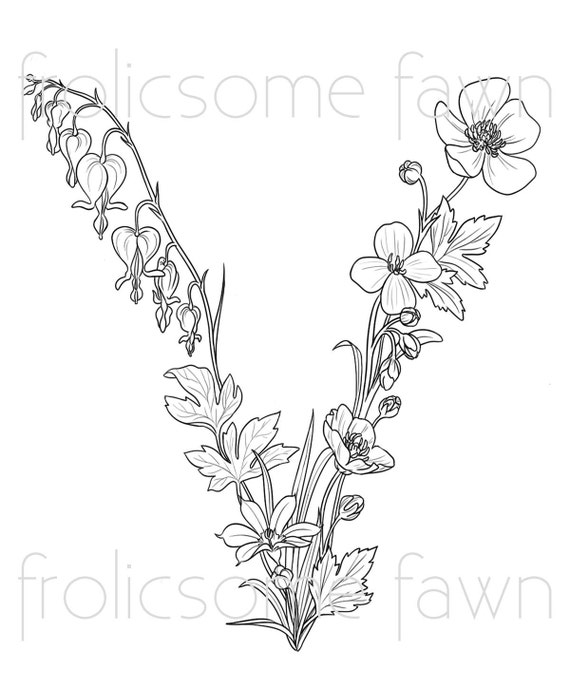 Wildflower lupin coloring page coloring pages for Wildflower coloring pages