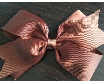Chocolate Brown Boutique Bow