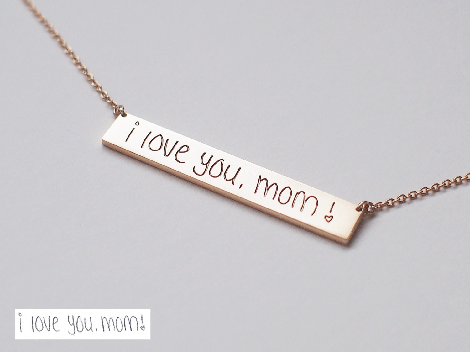 ... Bar Necklace / Actual Handwriting Bar Necklace • L-BN01   Necklace