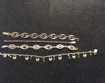 Vintage Sterling Bracelets 4 items