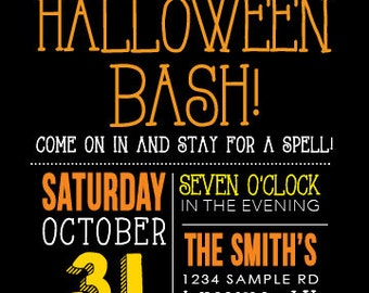 Candy Corn Halloween Party Invite