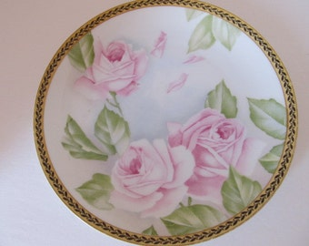 Rosenthal Selb-Bavaria china plate - Pink Roses
