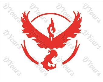 Pokemon Go Team Valor Vector Clipart - Svg Cdr Ai Pdf Eps files - Instant Download Files for CNC, Laser Cutting, Engraving, Printing