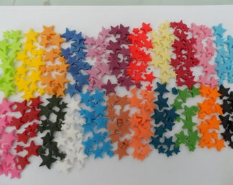 Multisize Sugar Stars Various Colours Edible Cake Cupcake Toppers