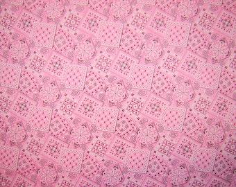 Pink Bandana Fabric