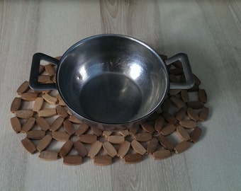 Vintage Metal Bowl, Soviet Metal Bowl with Handles from 1970s, Rustic Kitchen Decor