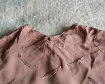 Beautiful 1940 vintage scalloped blouse Glene Blouse