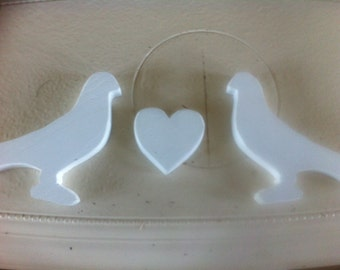 dove, magnets, heart magnet
