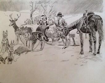 Santa and cowboy