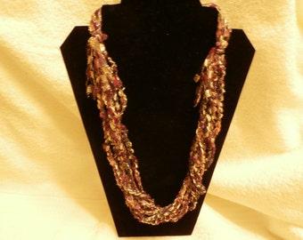 Hand Crocheted Trellis Necklace #21