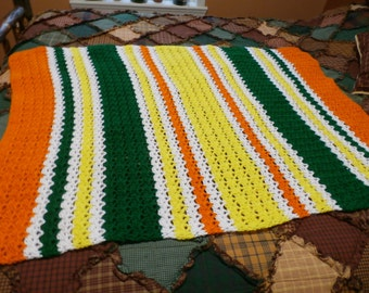Hand Crocheted Afghan # 25