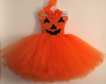 Orange pumpkin tutu, orange pumpkin dress, pumpkin costume, halloween, fall tutu, orange tutu, halloween pumpkin tutu, halloween costume